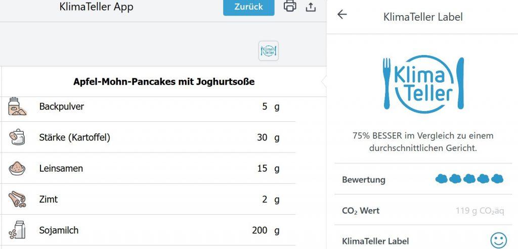 Apfel-Mohn-Pancakes mit Sojajoghurt-Soße