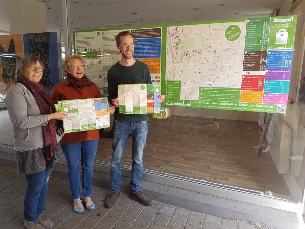 Der Faire Statt-Plan wird in der Altstadtmarktpassage präsentiert
