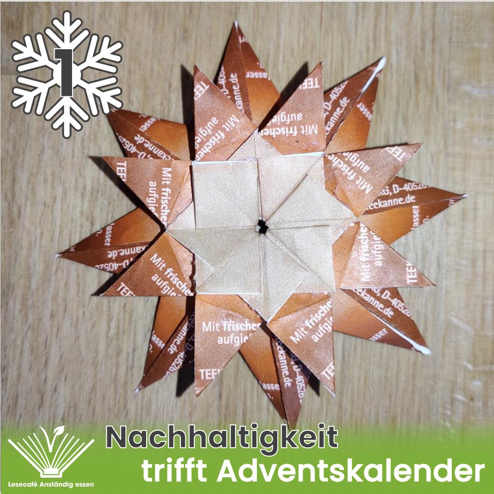 1. Türchen: Teebeuteltütchen-Sterne