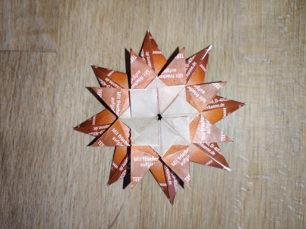 Teebeuteltütchen-Stern