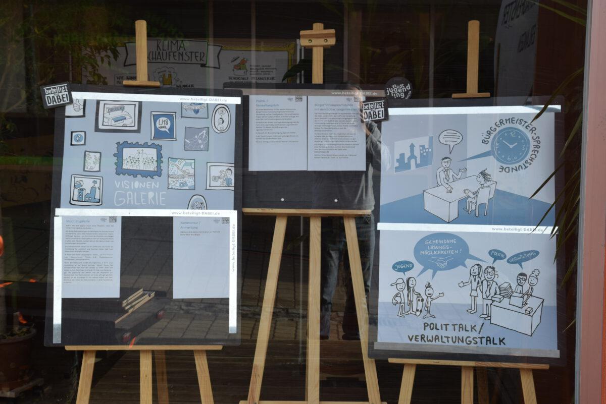 Schaufensterausstellung: beteiligt & DABEI